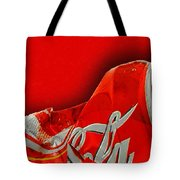 Coca-cola Can Crush Red Tote Bag