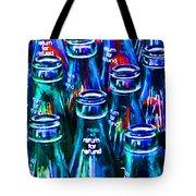 Coca-cola Coke Bottles - Return For Refund - Painterly - Blue Tote Bag