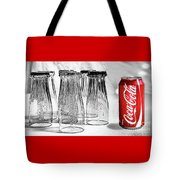 Coca-cola Glasses And Can - Selective Color By Kaye Menner Tote Bag