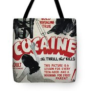 Cocaine Movie Poster, 1940s Tote Bag