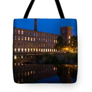 Cocheco Mills At Blue Hour Dover New Hampshire Tote Bag