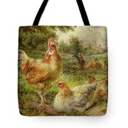 Cochin China Fowls Tote Bag