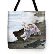 Cockapoo At The Beach Tote Bag