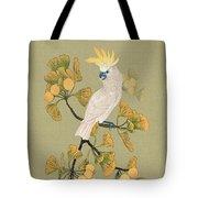 Cockatoo And Ginkgo Tree Tote Bag