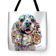 Cocker Spaniel Head Tote Bag