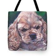 Cocker Spaniel Puppy Tote Bag by Lee Ann Shepard