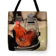 Cockerel And Storm Lamp Tote Bag
