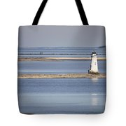Cockspur Island Lighthouse With Jetty Tote Bag