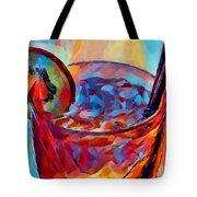 Cocktail Watercolor Tote Bag