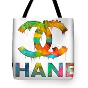 Coco Chanel Paint Splatter Color Tote Bag