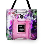Coco Chanel Parfume Pink Tote Bag