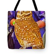 Coco The Burrowing Owl In Living Desert Zoo And Gardens In Palm Desert-california Tote Bag