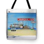 Cocoa Beach/cape Canaveral Pier Tote Bag