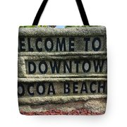 Cocoa Beach Welcome Sign Tote Bag