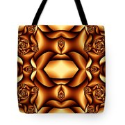 Cocoa Fractal Roses Tote Bag
