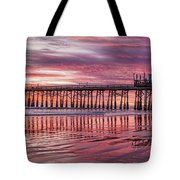 Cocoa Pier Sunrise Tote Bag