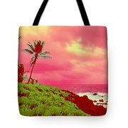 Coconut Palm Makai For Pele Tote Bag