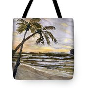 Coconut Palms On Cloudy Day Tote Bag