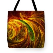 Cocoon Of Glowing Spirits Abstract Tote Bag