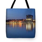 Coeur D Alene Night Skyline Tote Bag