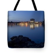 Coeur D Alene Skyline Night Tote Bag
