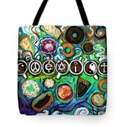 Coexisting With Coffee And Donuts Tote Bag