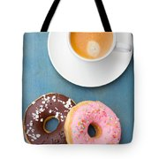 Coffee And Baked Donuts Tote Bag