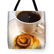 Coffee And Breakfast Roll Tote Bag
