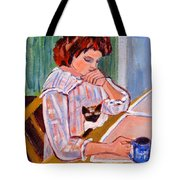 Coffee And Cat Tote Bag