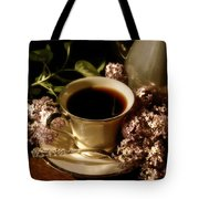 Coffee And Lilacs In The Morning Tote Bag