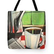 Coffee And Morning News Tote Bag