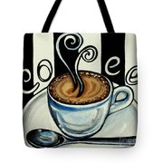Coffee At The Cafe Tote Bag