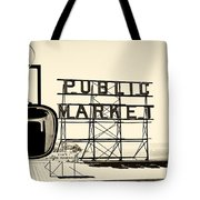 Coffee At The Market II Tote Bag
