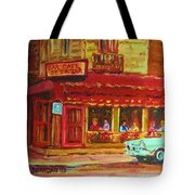 Coffee Bar On The Corner Tote Bag