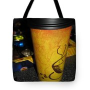 Coffee Cup Series. Yellow And Orange. Tote Bag