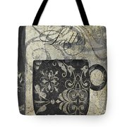 Coffee Flavors Gold And Black Tote Bag