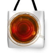 Coffee In Glass Cup From Directly Above Tote Bag