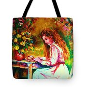 Coffee In The Garden Tote Bag