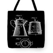 Coffee Pot Patent 1916 Black Tote Bag
