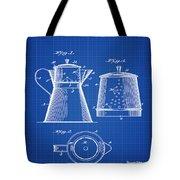 Coffee Pot Patent 1916 Blue Print Tote Bag
