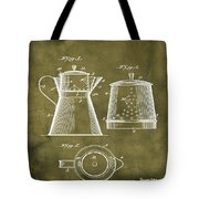 Coffee Pot Patent 1916 Grunge Tote Bag