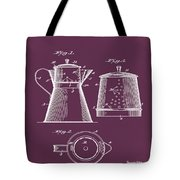 Coffee Pot Patent 1916 Red Tote Bag
