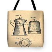 Coffee Pot Patent 1916 Sepia Tote Bag