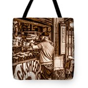 Coffee Time At The Station. Tote Bag