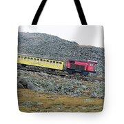 Cog Railway On Top Of Mt Washington Tote Bag