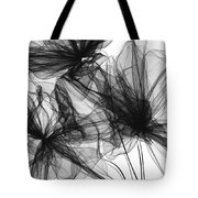 Coherence - Black And White Modern Art Tote Bag