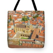 Coimbra Cathedral Aerial Tote Bag