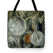 Coins And Bills Tote Bag