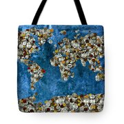 Coins World Map Tote Bag