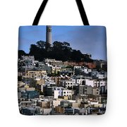 Coit Tower In San Francisco Tote Bag